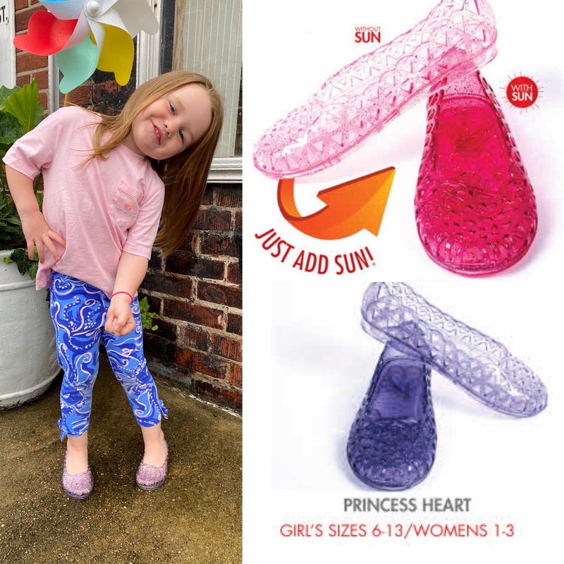 Kid's Del Sol Princess Heart Jellies^
