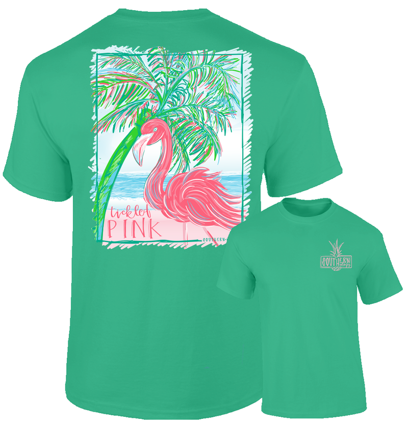 Southernology Tickled Pink Flamingo T Shirt