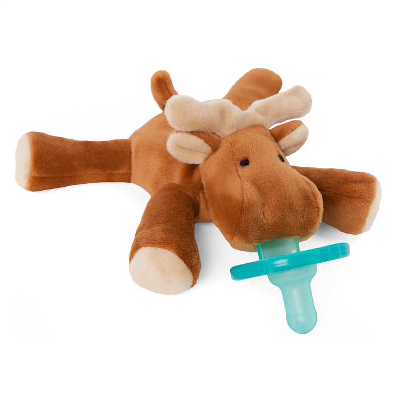 WubbaNub Brown Moose Pacifier - Box