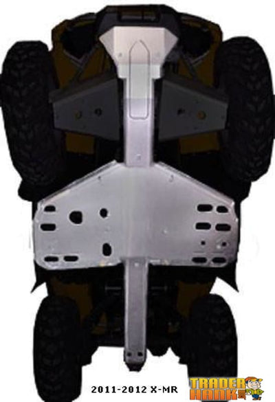 2011-2012 Can Am Outlander 1000 X-MR Ricochet 4-Piece Full Frame Skid Plate Set | Ricochet Skid Plates - Free Shipping