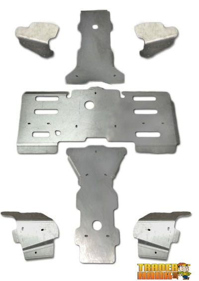 Arctic Cat 300 Mid-Size Ricochet 7-Piece Complete Aluminum Skid Plate Set | Ricochet Skid Plates - Free Shipping