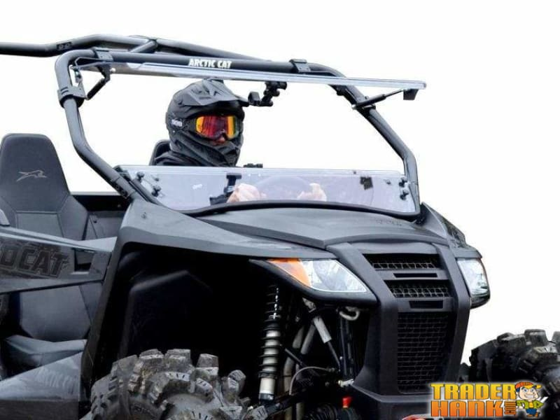 SuperATV Half Windshield for Arctic Cat Wildcat Trail Sport 2015+ Dark Tint