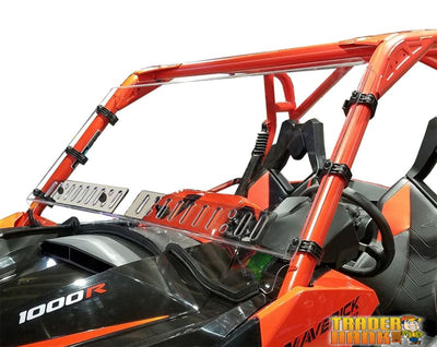 Can Am Maverick Full Hard Coated Windshield With Dual Sliding Vents | UTV ACCESSORIES - Free shipping