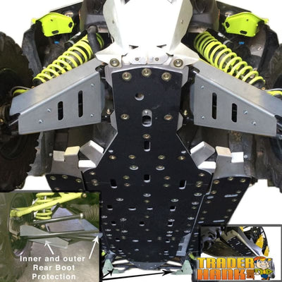 Can-Am Maverick MAX X-RS Turbo Ricochet 12-Piece Complete Aluminum Skid Plate Set | Ricochet Skid Plates - Free Shipping