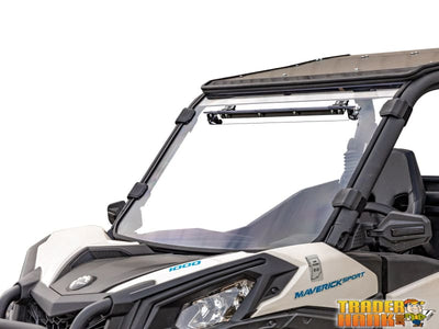 Can-Am Maverick Sport Scratch Resistant Vented Full Windshield | SUPER ATV WINDSHIELDS - Free shipping