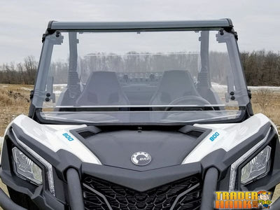 Can Am Maverick Trail/Sport Scratch Resistant Full Tilting Windshield - UTV ACCESSORIES - Free shipping