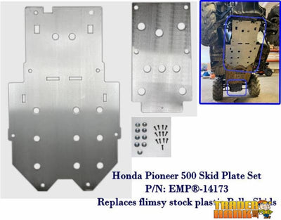 Honda Pioneer 500 Belly Skid Plates (aluminum set of two) | UTV ACCESSORIES - Free shipping