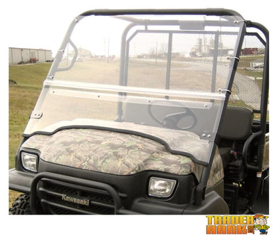 Kawasaki Mule 3000/3010 Folding Hard Windshield | Utv Accessories - Free Shipping