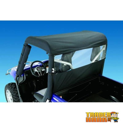 Kawasaki Teryx Windstopper Black Nylon Clear Vinyl Window | UTV ACCESSORIES - Free Shipping