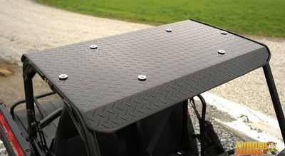 Polaris Ranger 150 Aluminum Diamond Plate Hard Top - Black | UTV ACCESSORIES - Free Shipping