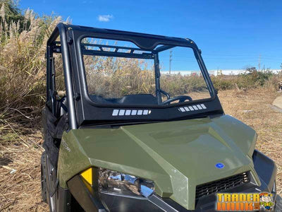 2015-2021 Polaris Ranger Mid Size 500/570 Laminated Glass Windshield | RANGER-WINDSHIELD-FRONT-FULL-570-500-MIDSIZE-PRO-FIT-15-21 - Free