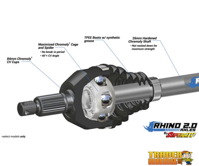 Polaris Ranger XP 1000 Big Lift Kit Heavy Duty Axles - Rhino 2.0 | UTV ACCESSORIES - Free shipping