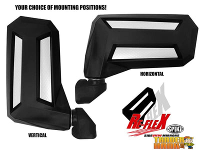 RE-FLEX ADJUSTABLE SIDE MIRRORS W/2 CLAMP (PAIR) | UTV ACCESSORIES - Free shipping
