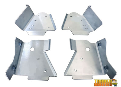 Suzuki King Quad 750 (also 450/500/700) Ricochet 4-Piece Aluminum A-Arm & CV Boot Guard Set | Ricochet Skid Plates - Free Shipping