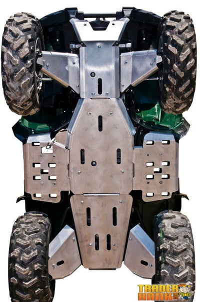 Yamaha Grizzly 550 Ricochet 10-Piece Complete Aluminum Skid Plate Set | Ricochet Skid Plates - Free Shipping