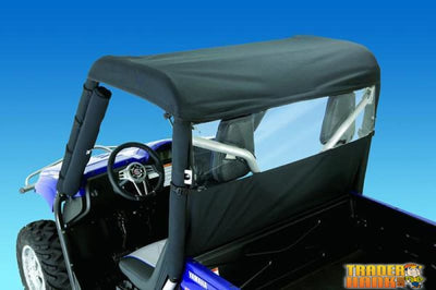 Yamaha Rhino Windstopper Solid Black Nylon with Clear Vinyl Window | UTV ACCESSORIES - Free Shipping