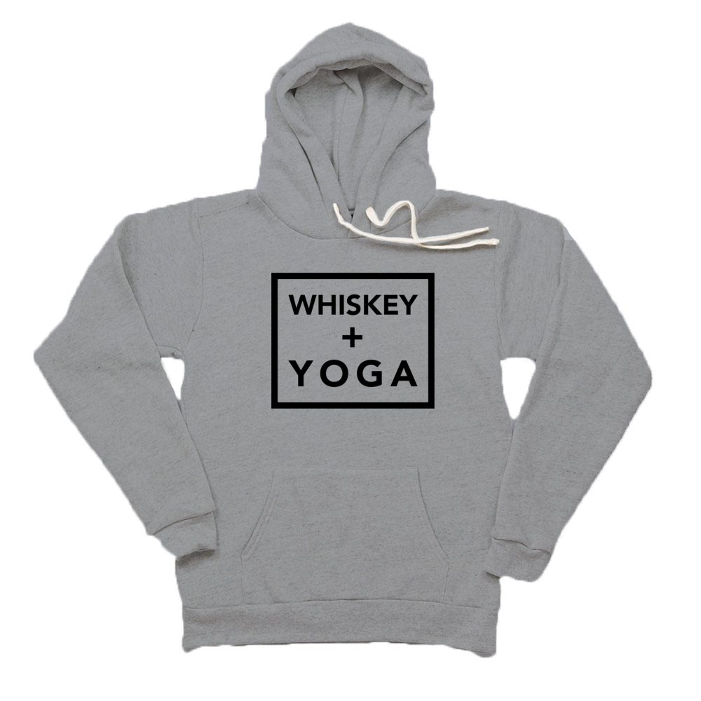 Whiskey + Yoga Unisex Tri-Blend Fleece Hoodie