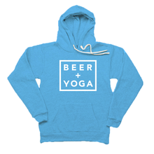 Beer + Yoga Unisex TriBlend Fleece Hoodie
