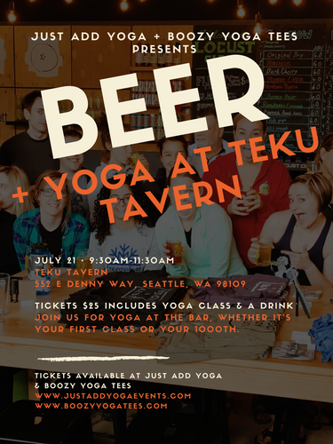 Beer + Yoga at Teku Tavern