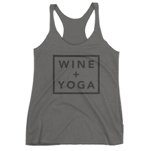 Wine + Yoga Women's Racerback Tank - Black Ink