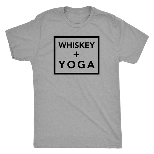 Whiskey + Yoga Unisex Tri-Blend Tee