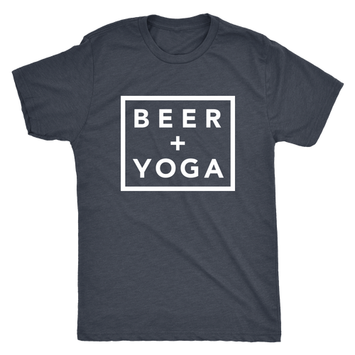 Beer + Yoga Tee - White Print