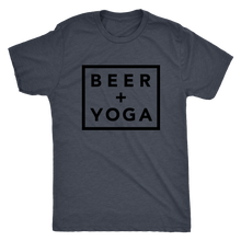 Beer + Yoga Tee - Black Print