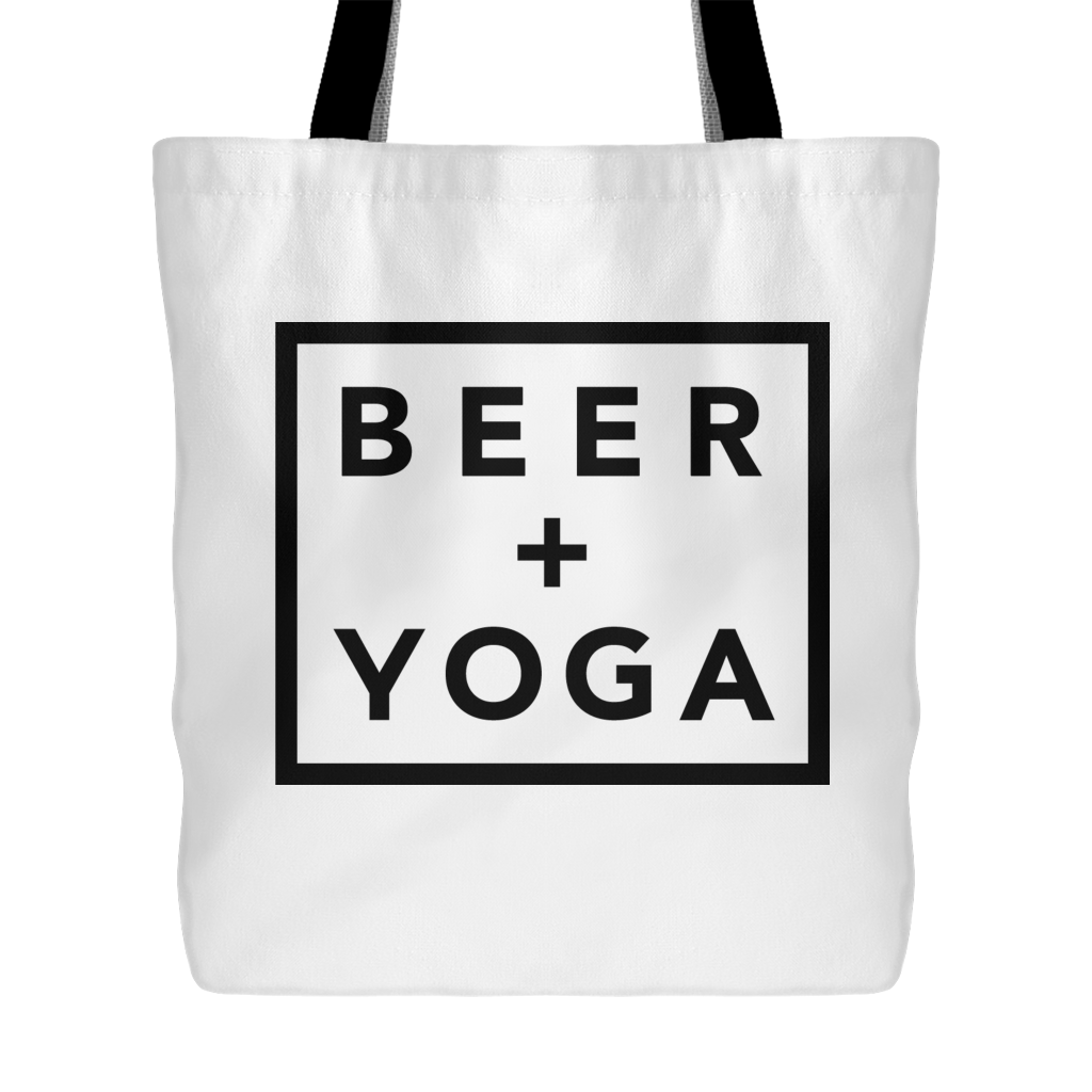 Beer + Yoga Tote Bag
