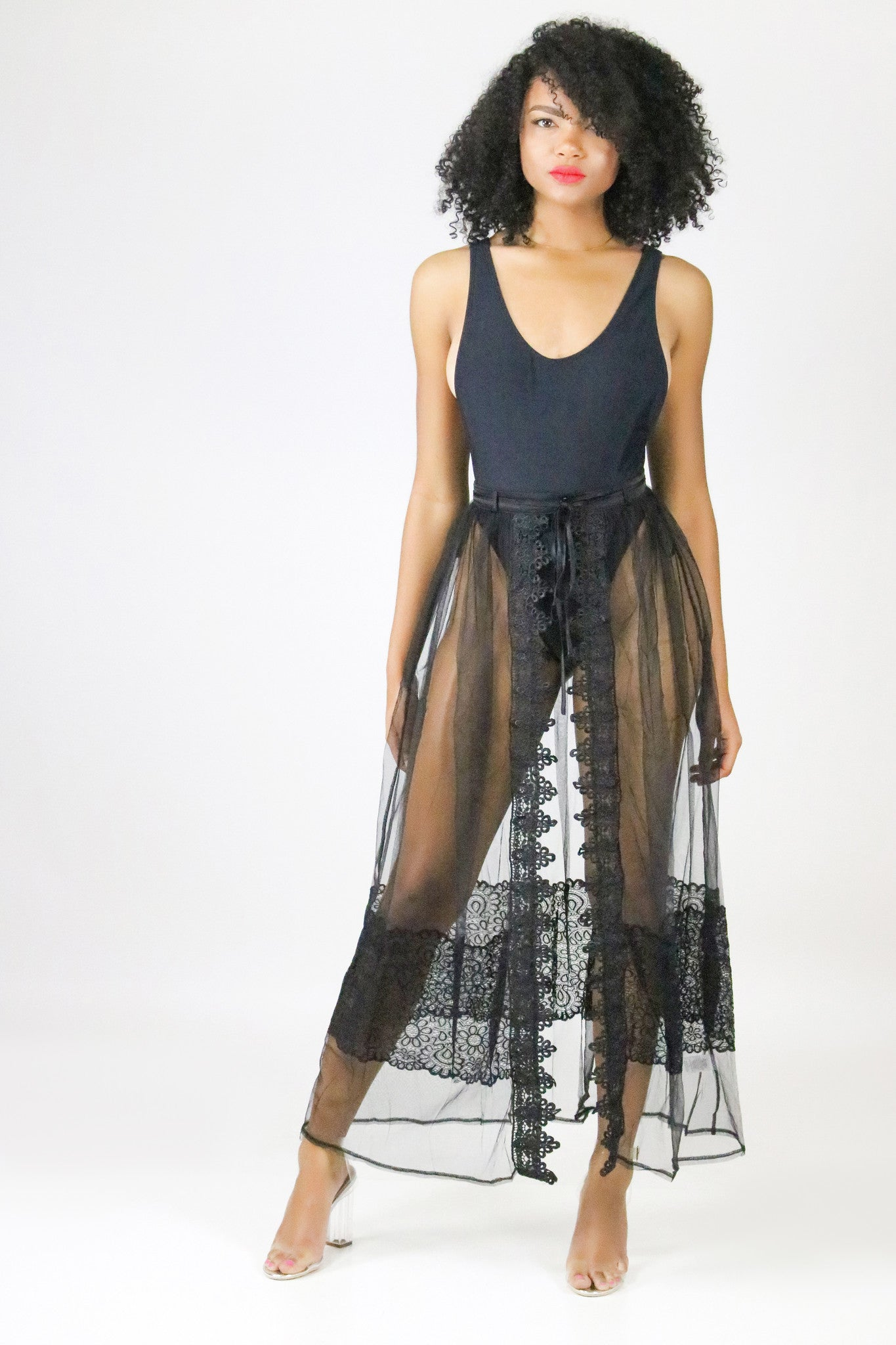 new release hot-selling discount bright in luster Sheer Lace Maxi Skirt – The Difference Boutique