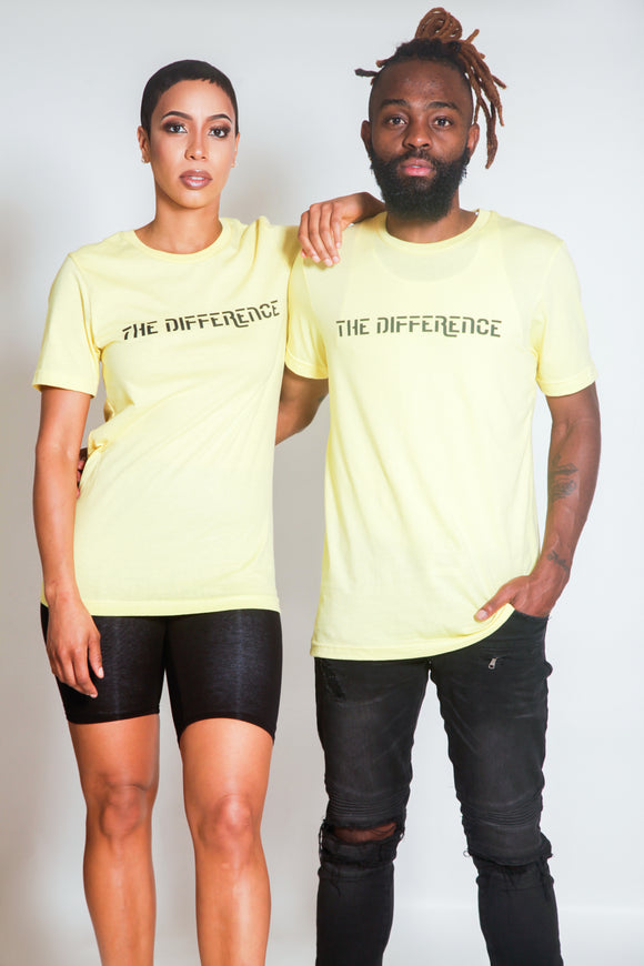 Plain The Difference T-Shirt- Yellow