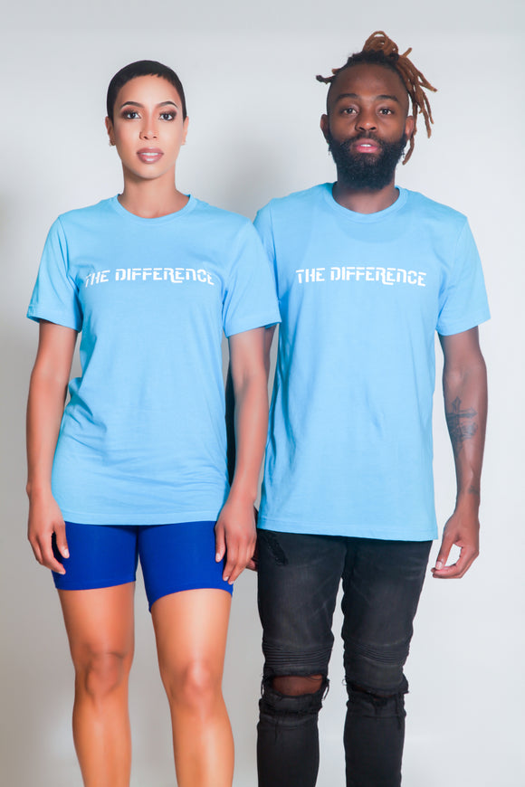 Plain The Difference T-Shirt- Blue