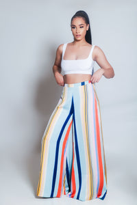 Fierce Colorful Wide Leg Pants