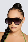 Glam Oversize Sunglasses- Black