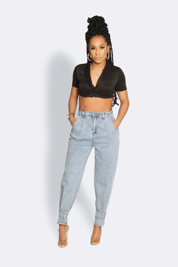 Stay Fly Denim Rhinestone Jeans