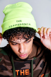 The Difference Beanie- Neon Yellow