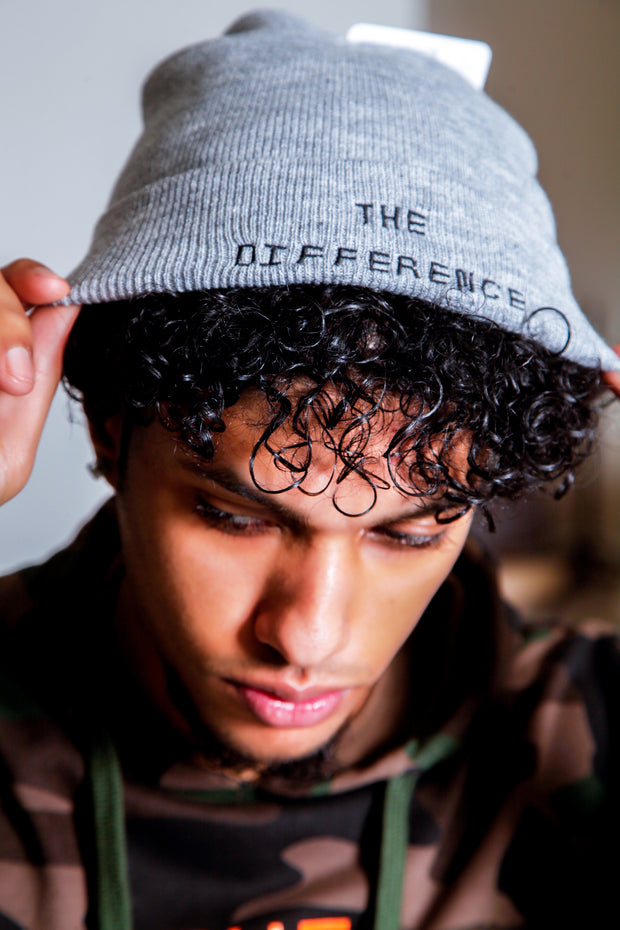 The Difference Beanie- Light Gray
