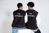 The Difference Varsity Jacket - Black