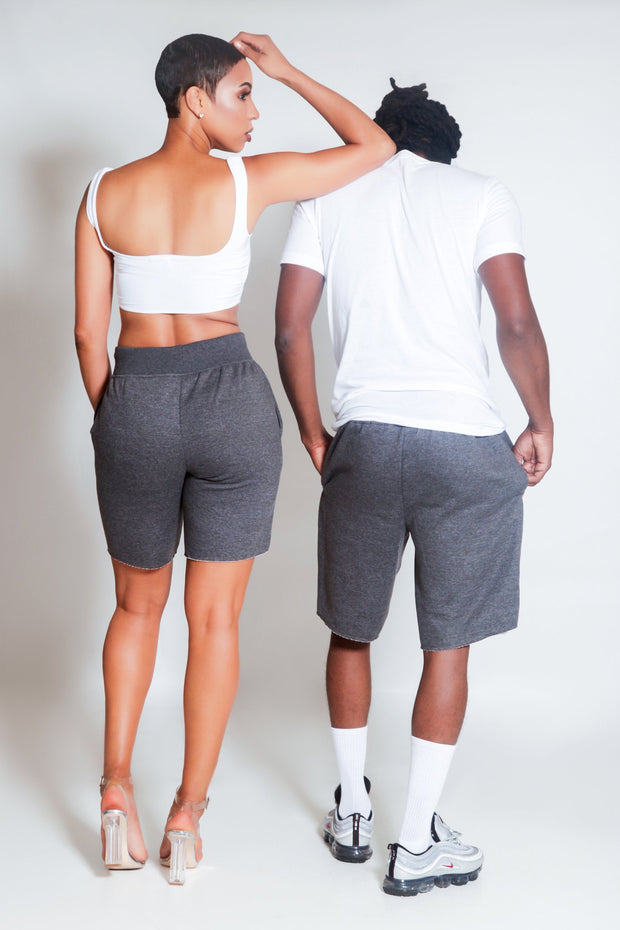 The Difference Sweat Shorts-Gray