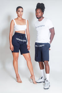 The Difference Sweat Shorts-Navy