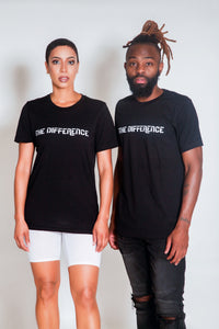 Plain The Difference T-Shirt- Black
