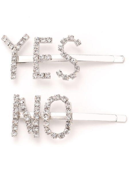 Yes-No Hair Clip Set