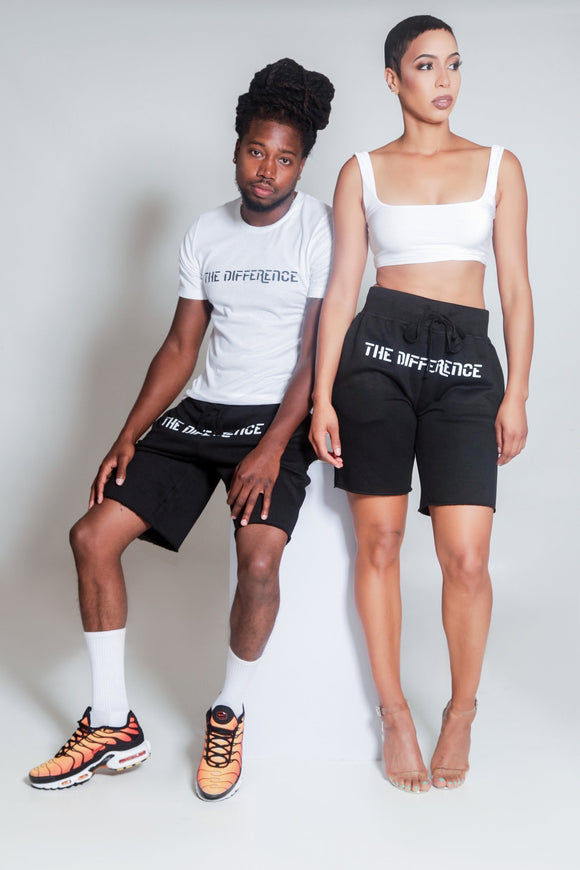 The Difference Sweat Shorts-Black