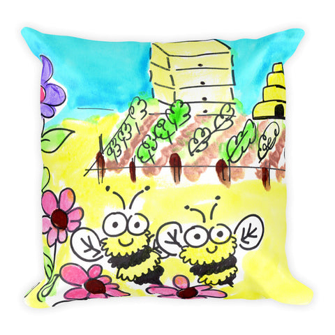 b is for bee storytime pillow
