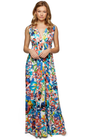 Long Cafatan Print Dress