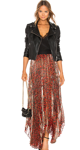 Katz Shimmer Pleat Maxi Skirt