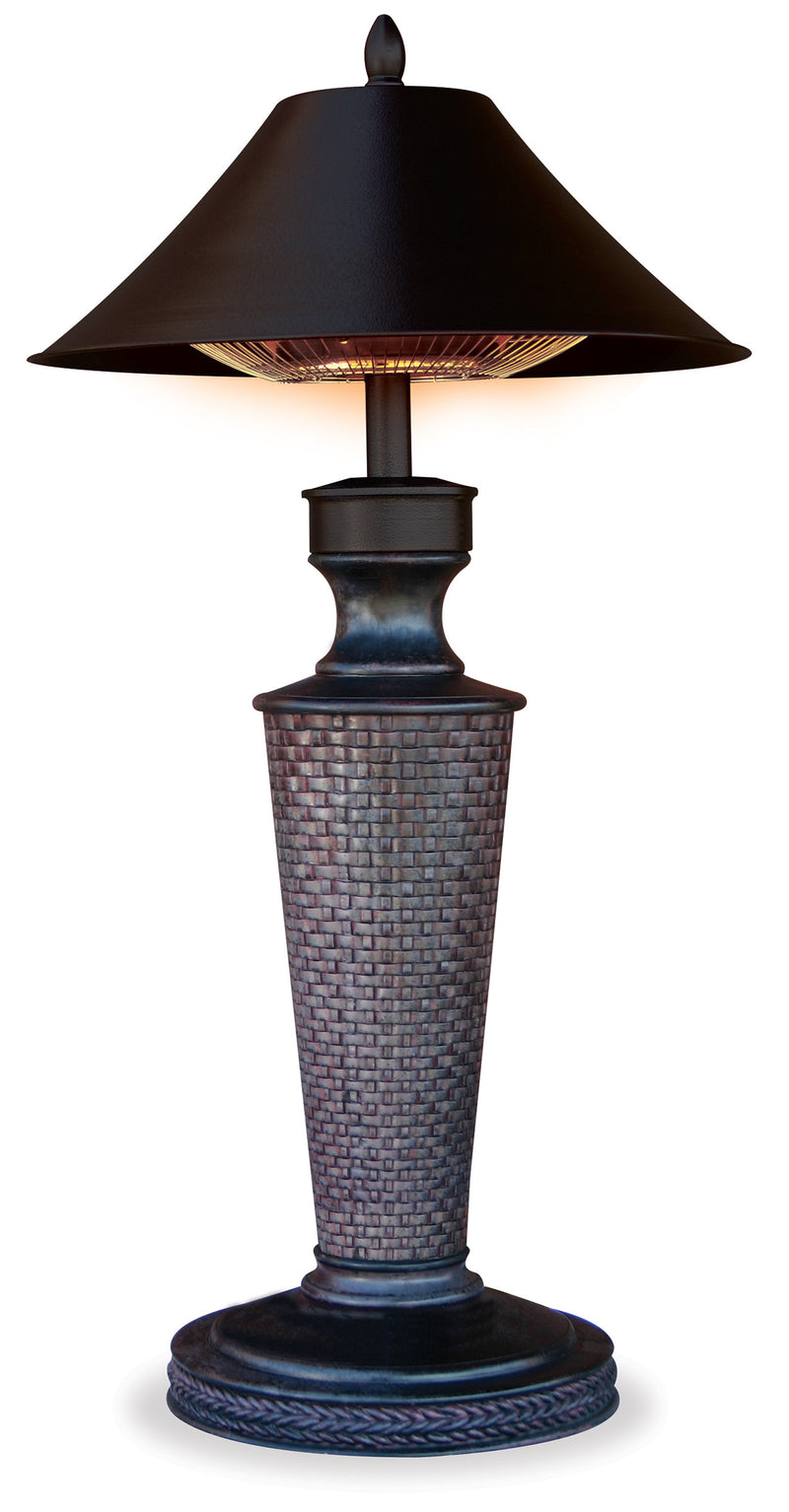 "Table Lamp Outdoor Electric Heater - ""Vacation Day"""