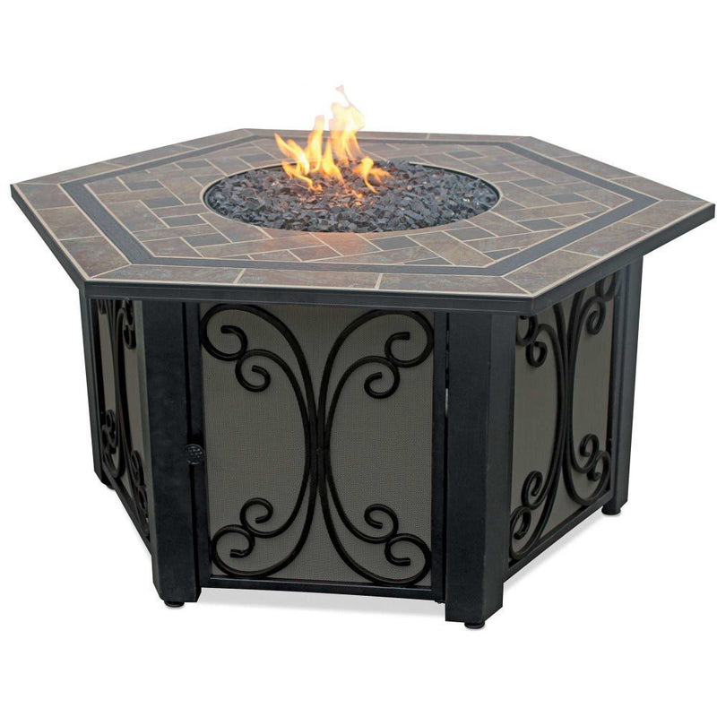 Endless Summer LP Gas Outdoor Fire Table with Slate Tile Mantel
