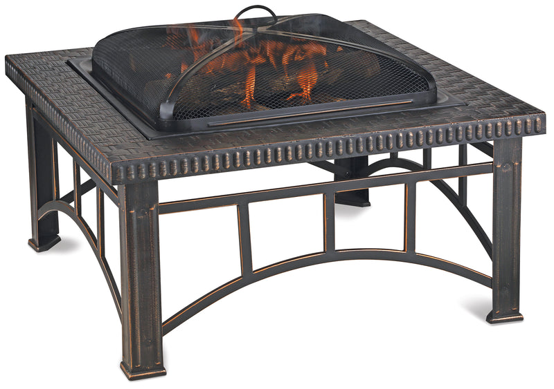 Brushed Copper Wood Burning Outdoor Firebowl