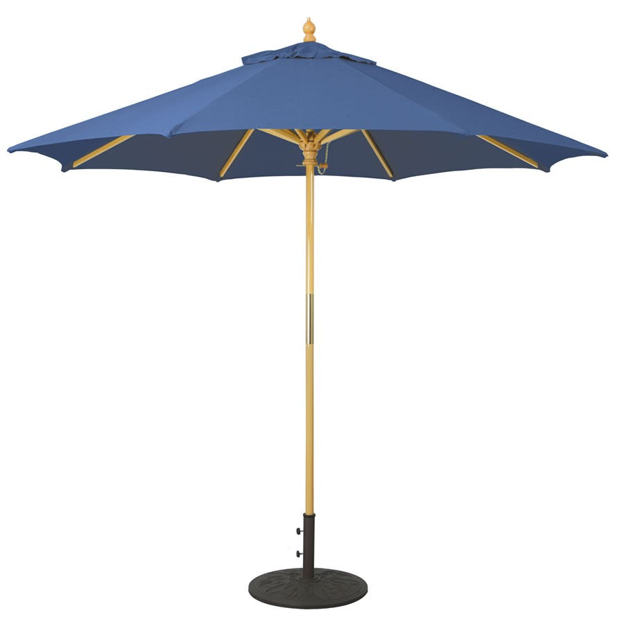 Galtech International 9' Manual Lift Light Wood Umbrella
