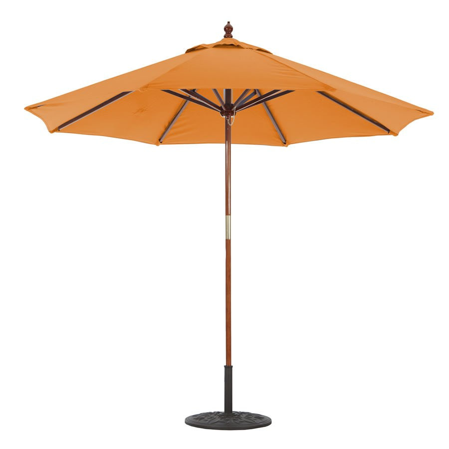 Galtech International 9' 2 Pulley Lift Light Wood Umbrella